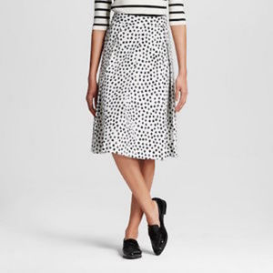 Who What Wear White Skirt with Black Polka Dots